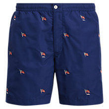 Buy Polo Ralph Lauren Prepster Holiday Flag Swim Shorts, Navy Online at johnlewis.com