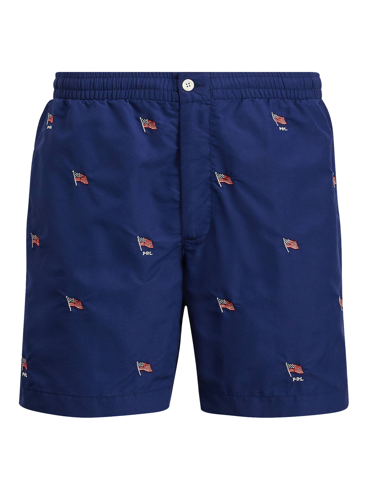 dfe7649538 Buy Polo Ralph Lauren Prepster Holiday Flag Swim Shorts, Navy, S Online at  johnlewis ...