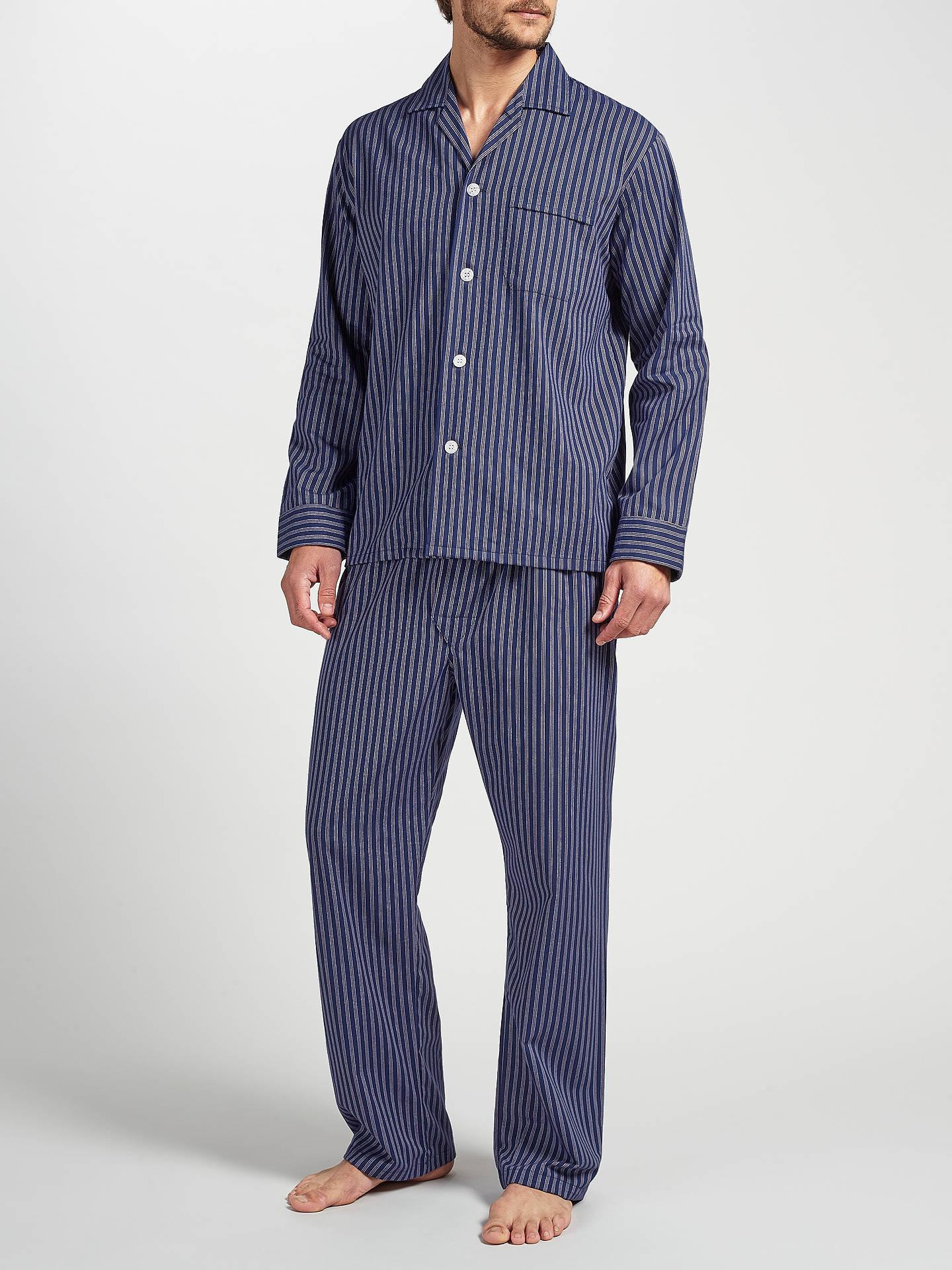 BuyDerek Rose Stripe Brushed Cotton Pyjamas 3e89cb7e8