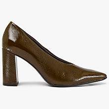 Buy Kin by John Lewis Anna Pointed Toe Court Shoes, Khaki Online at johnlewis.com
