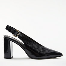 Buy Kin by John Lewis Clara Slingback Court Shoes, Navy Online at johnlewis.com
