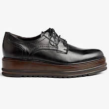 Buy Kin by John Lewis Flos Flatform Brogues, Black Online at johnlewis.com