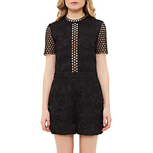 Buy Ted Baker Daycee Guipure Lace Playsuit, Black Online at johnlewis.com