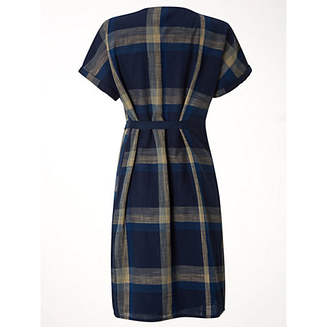 Buy White Stuff Check Mate Dress, Waterfall Blue Online at johnlewis.com