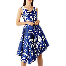 Buy Coast Palm Asymmetric Jacquard Dress, Blue Online at johnlewis.com
