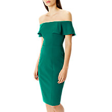 Buy Coast Nancy Frill Shift Dress, Green Online at johnlewis.com