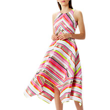 Buy Coast Bossa Nova Stripe Midi Dress, Multi Online at johnlewis.com