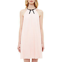 Buy Ted Baker Emelay Bow Detail Pleated Dress, Baby Pink Online at johnlewis.com