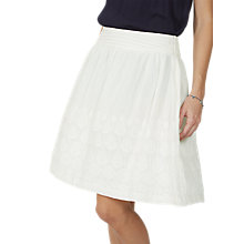 Buy Fat Face India Embroidered Skirt, Ivory Online at johnlewis.com