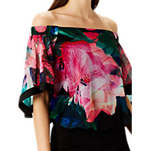 Buy Coast Irkime Floral Bardot Top, Multi Online at johnlewis.com
