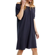 Buy White Stuff Luxe Jersey Bardot Dress, Slate Grey Plain Online at johnlewis.com