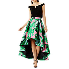 Buy Coast Attatea Palm Print Skater Skirt, Pink Online at johnlewis.com