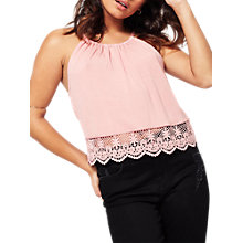 Buy Miss Selfridge Petite Crochet Hem Cami Top Online at johnlewis.com