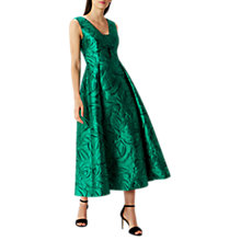 Buy Coast Maya Jacquard Dress, Green Online at johnlewis.com