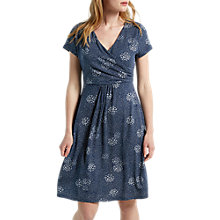 Buy White Stuff Summer Time Spot Jersey Dress, Waterfall Blue Print Online at johnlewis.com