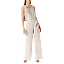 Buy Coast Lenox Sequin Jumpsuit, Blush Online at johnlewis.com