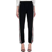 Buy Whistles Popper Side Stripe Trousers, Black Online at johnlewis.com