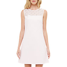 Buy Ted Baker Embellished Shift Dress, Baby Pink Online at johnlewis.com