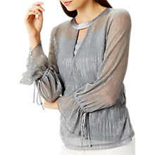 Buy Coast Lou Metallic Wrap Top, Silver Online at johnlewis.com