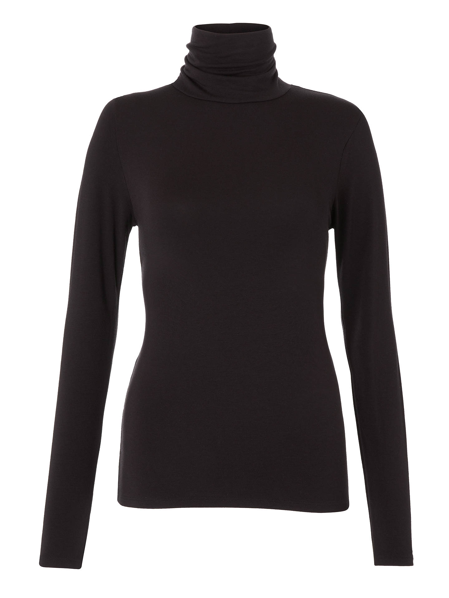 BuyJohn Lewis & Partners Heat Generating Thermal Roll Neck, Black, 8-10 Online at johnlewis.com