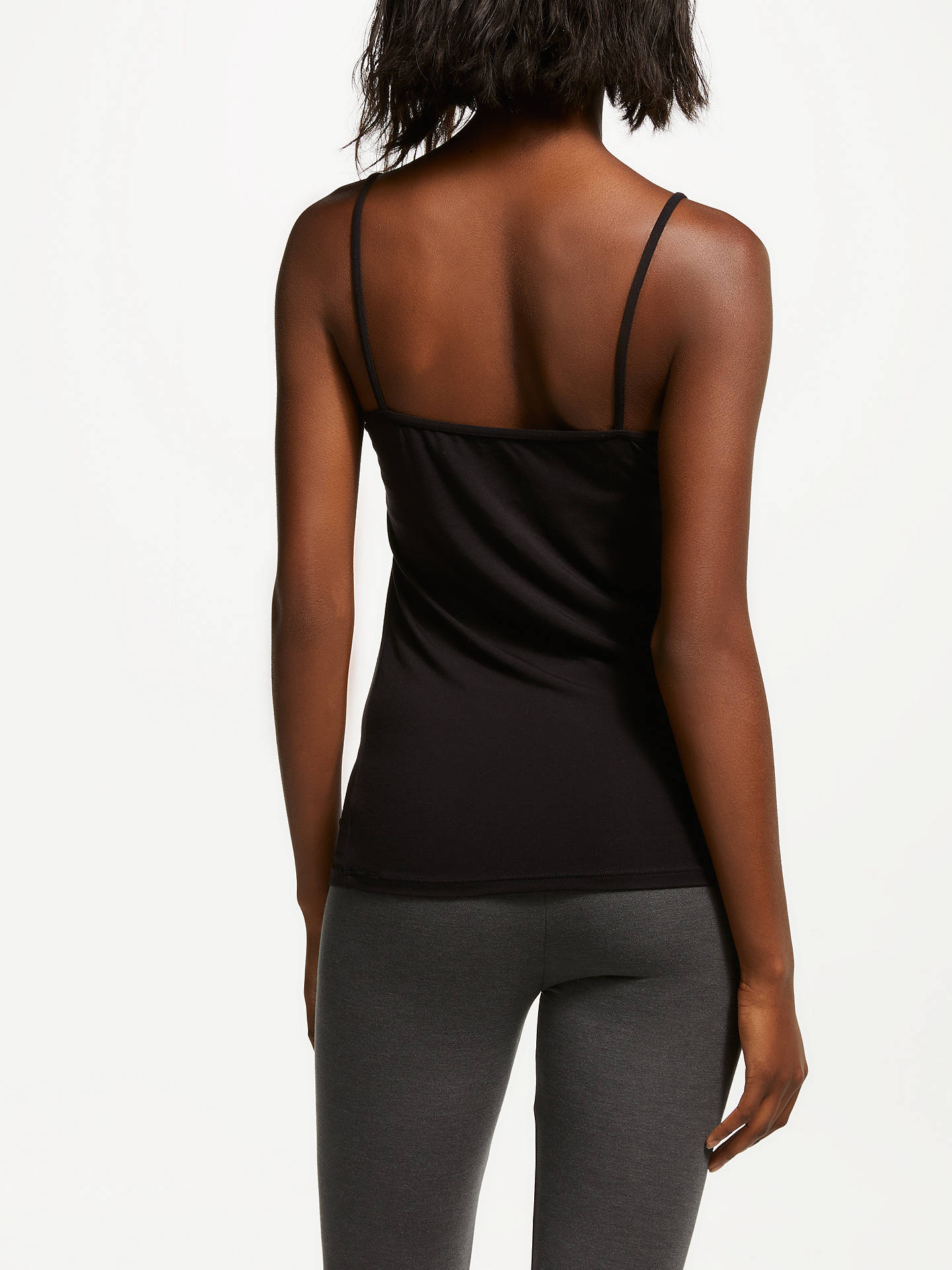 BuyJohn Lewis & Partners Heat Generating Lace Trim Thermal Vest, Black, 8-10 Online at johnlewis.com