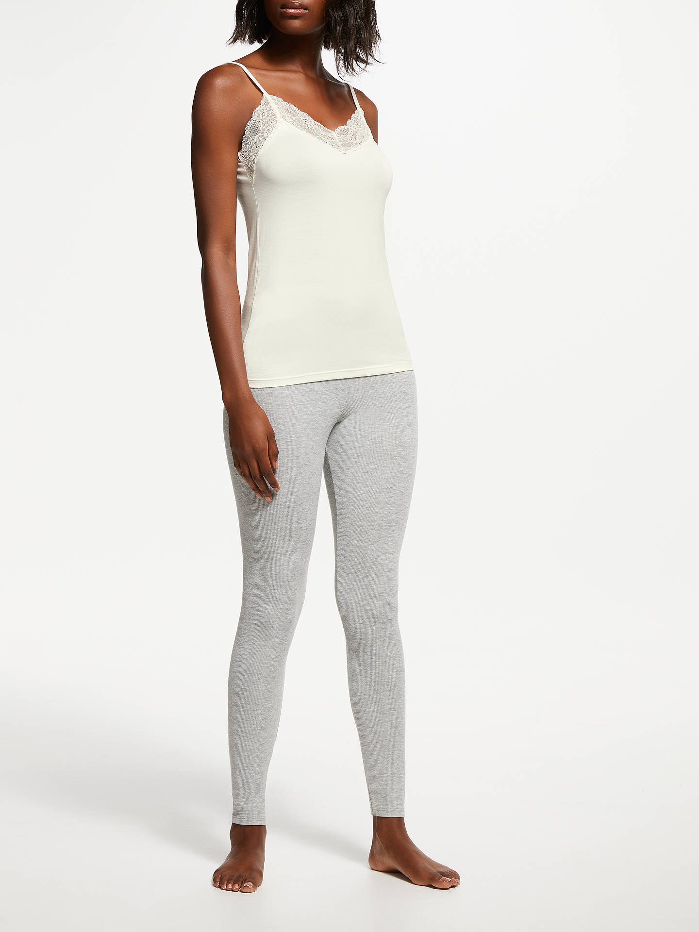 BuyJohn Lewis & Partners Heat Generating Lace Trim Thermal Vest, Ivory, 8-10 Online at johnlewis.com