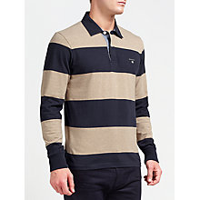 Buy Gant Bar Stripe Heavy Rugger Jersey Top Online at johnlewis.com