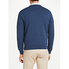 Buy GANT Lightweight Cotton Crew Neck Jumper, Dark Jeans Blue Online at johnlewis.com