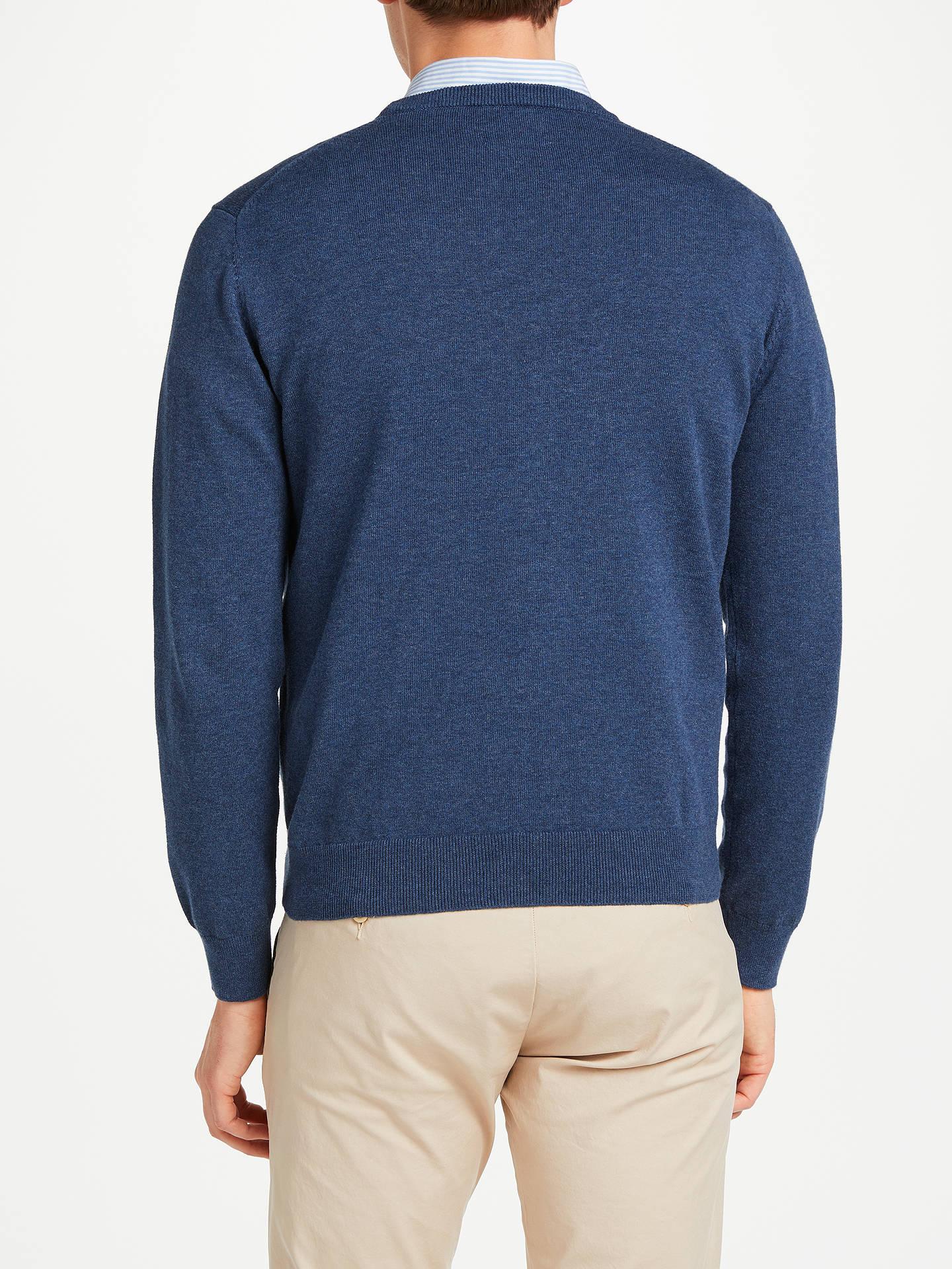 1a063a79f13b75 Buy GANT Lightweight Cotton Crew Neck Jumper, Dark Jeans Blue, M Online at  johnlewis ...