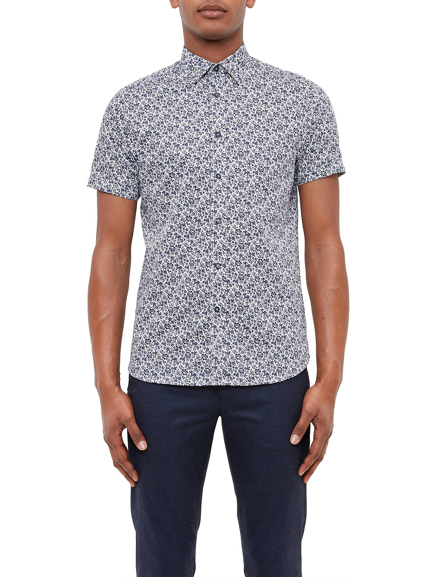 5c0672dd17c0b BuyTed Baker Alygar Floral Print Cotton Shirt