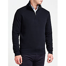 Buy Gant Sacker Cotton Rib Half Zip Sweatshirt Online at johnlewis.com