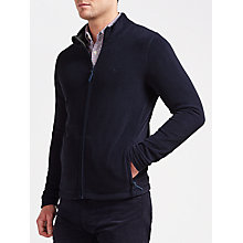 Buy Gant Fleece Jacket, Evening Blue Online at johnlewis.com