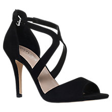 Buy Carvela Jett Cross Strap Stiletto Sandals, Black Online at johnlewis.com