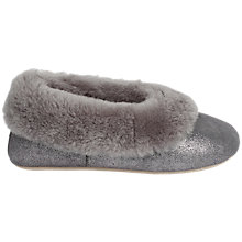 Buy Just Sheepskin Queen Sparkle Ballerina Slippers, Grey Online at johnlewis.com