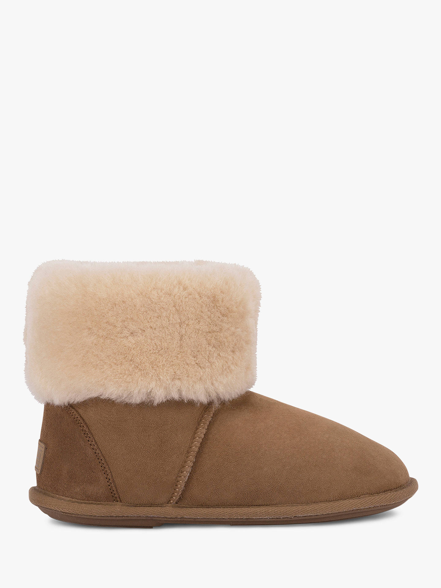 011e41755 Buy Just Sheepskin Albery Roll Cuff Boot Slippers, Chestnut, 5-6 Online at  ...