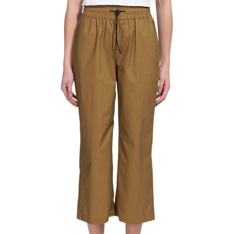 Buy Whistles Ash Elasticated Poplin Trousers, Khaki Online at johnlewis.com
