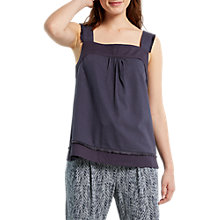 Buy White Stuff Fraya Jersey Vest, Slate Grey Online at johnlewis.com