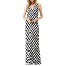 Buy Jigsaw Mini Gingham Maxi Dress, Navy/Multi Online at johnlewis.com