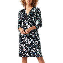 Buy Jigsaw Falling Freesia Jersey Dress, Black/Multi Online at johnlewis.com