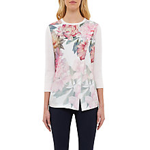 Buy Ted Baker Indii Painted Posie Asymmetric Jumper, Baby Pink Online at johnlewis.com