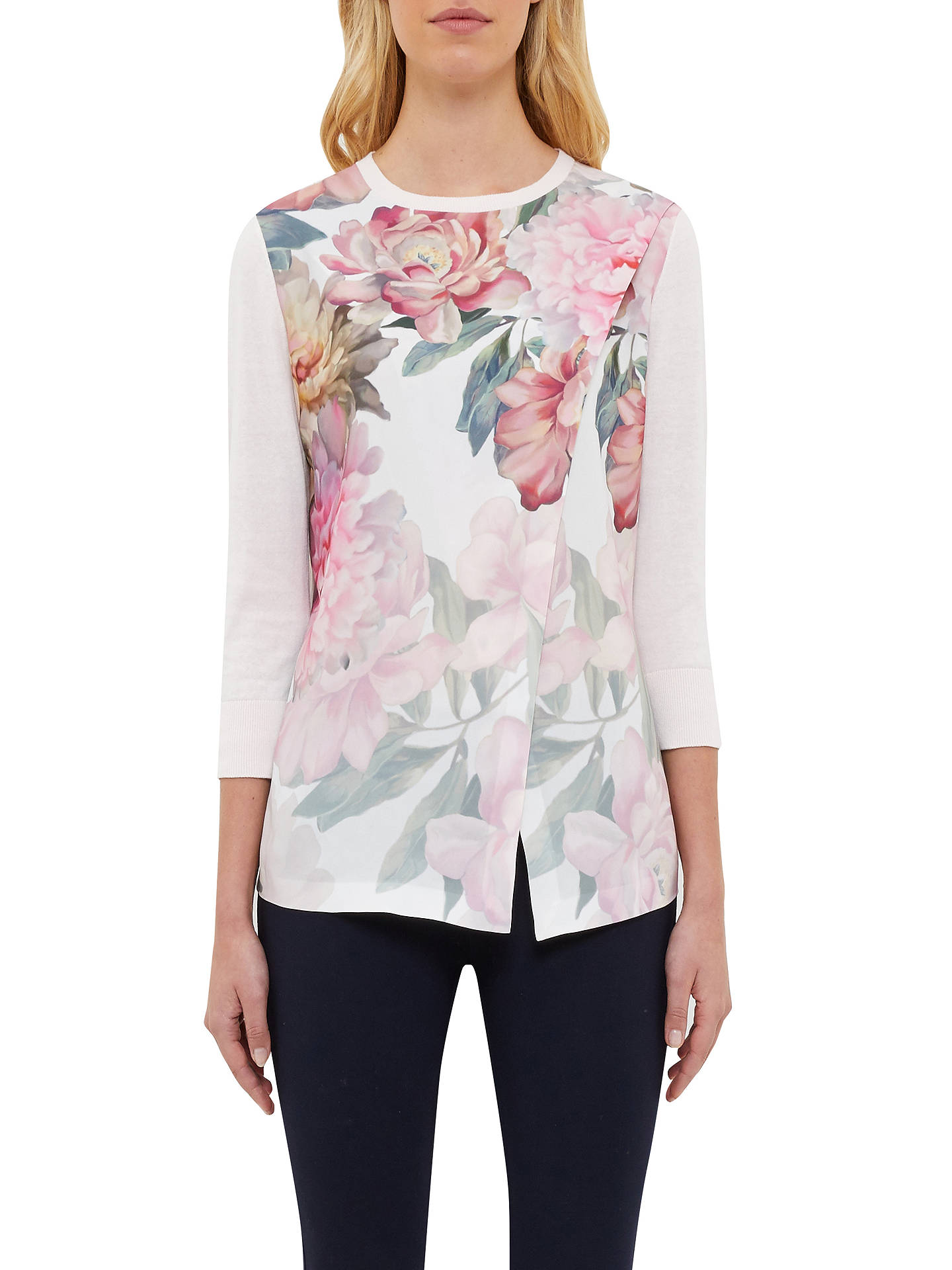 ad37e59cb Buy Ted Baker Indii Painted Posie Asymmetric Jumper