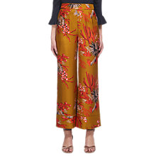 Buy Whistles Print Silk Trousers, Gold/Multi Online at johnlewis.com