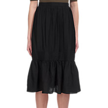 Buy Whistles Simone Ruffle Skirt, Black Online at johnlewis.com