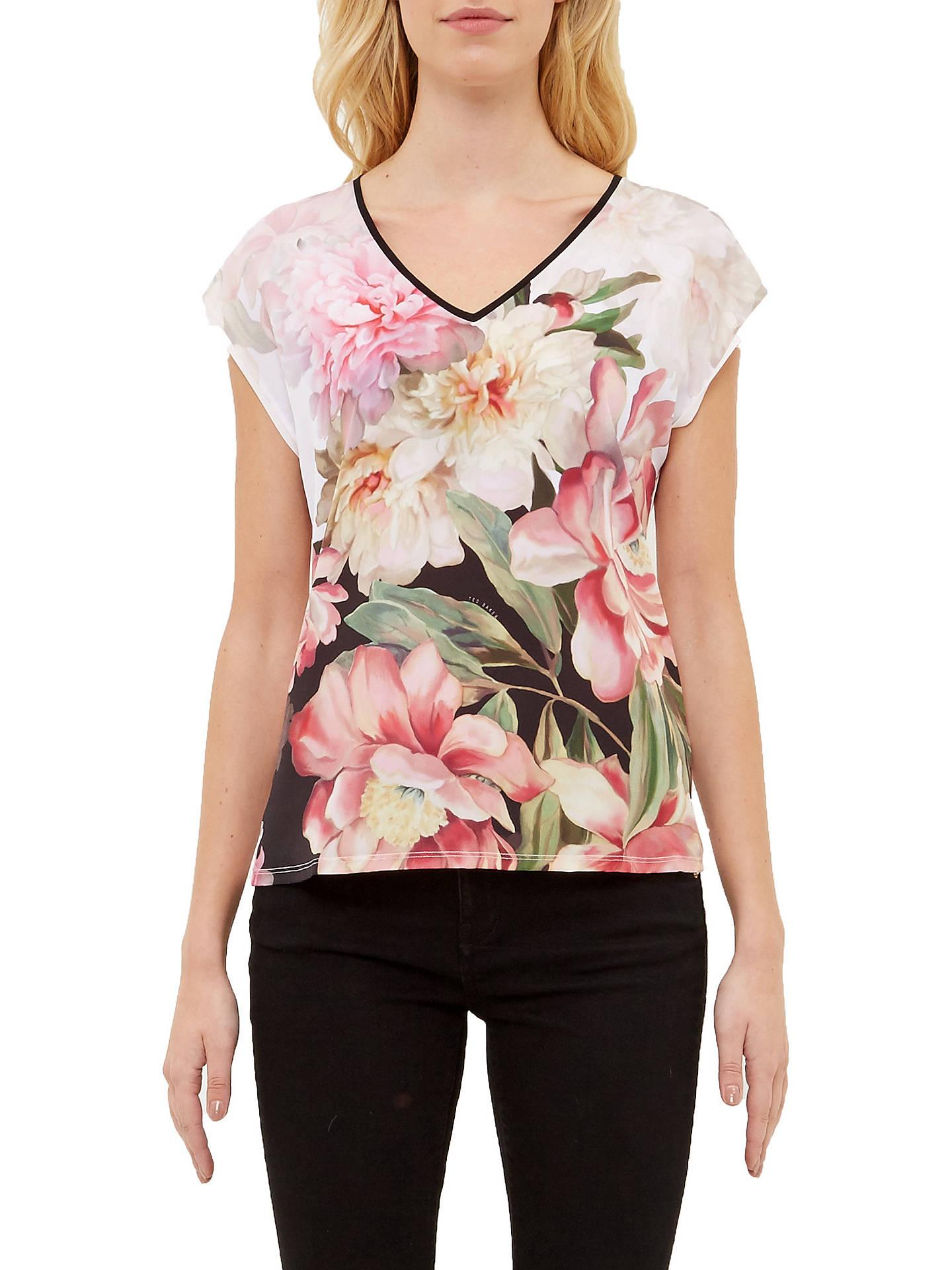5d7c36284 Buy Ted Baker Ilenia Painted Posie V-Neck T-Shirt