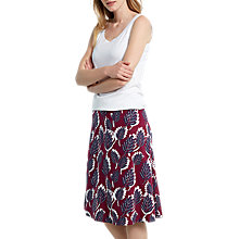 Buy White Stuff Dotty Leaf Reversible Skirt, Desert Red/Multi Online at johnlewis.com