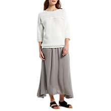 Buy White Stuff Brush Stroke Maxi Skirt, Dove Grey Online at johnlewis.com