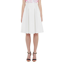 Buy Ted Baker Tylea Pleat Detail Skirt, Ecru Online at johnlewis.com