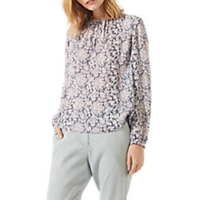 Buy Jigsaw Marble Shore Silk Blouse, Heather Online at johnlewis.com