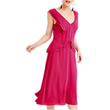 Buy Oasis Frill Midi Flared Dress Online at johnlewis.com