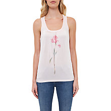 Buy Ted Baker Polyna Sketchbook Placement Print Vest, Baby Pink Online at johnlewis.com